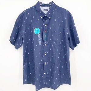 IZOD Breeze Collection Sailboat Button Down Shirt